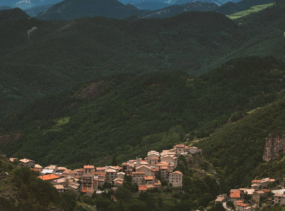 Village in the mountains, Lourdes travel, Hôtel Continental Lourdes