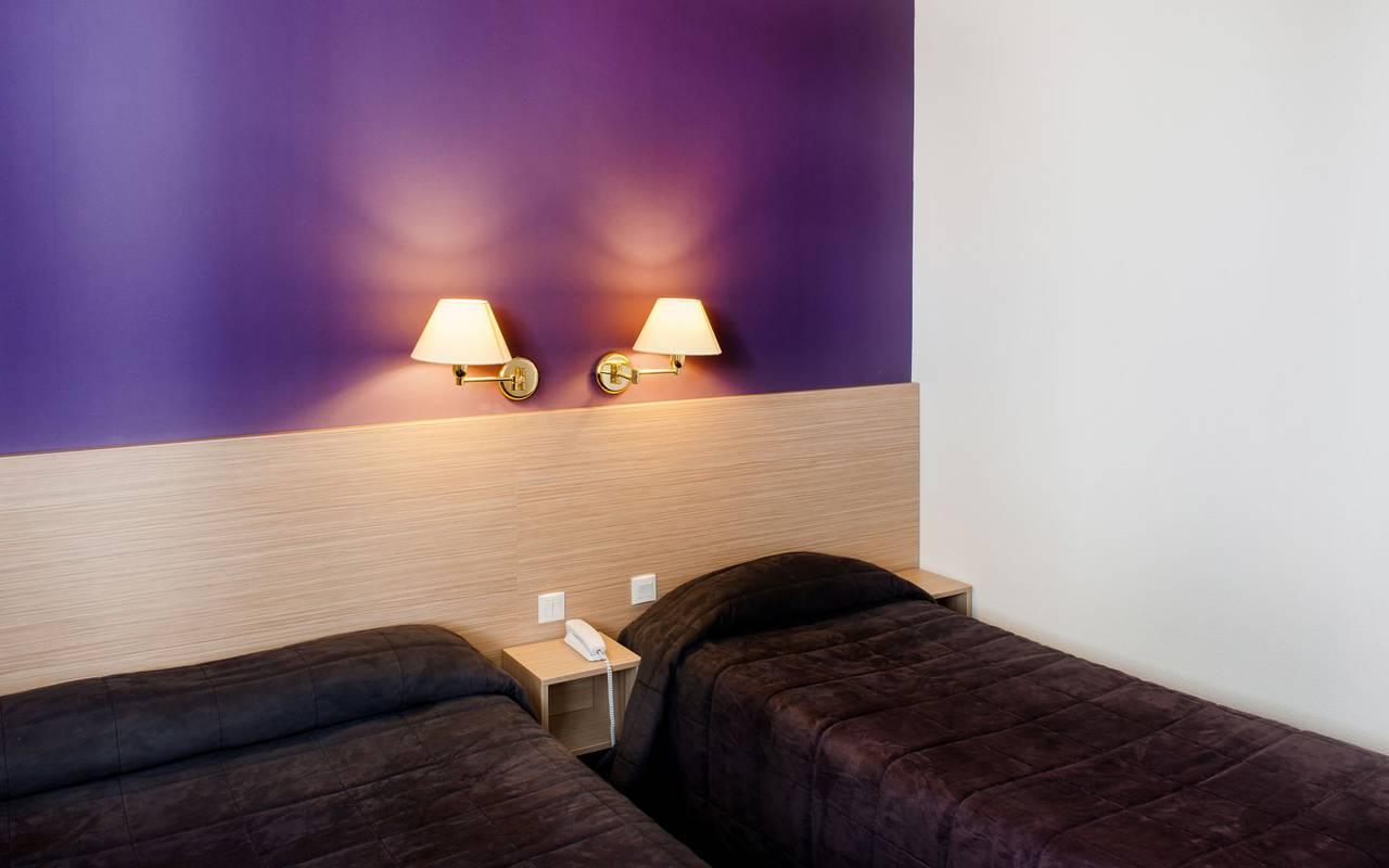 Triple room, bed and breakfast in Lourdes, Hôtel Continental Lourdes